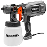 Terratek Paint Sprayer, 550W DIY Electric Spray Gun with 3 Spray Patterns, 1