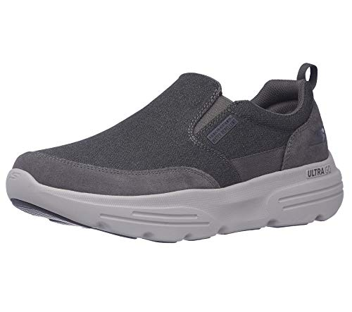 Skechers mens Gowalk Duro - Water Repellent Performance Walking Shoe, Charcoal, 10.5 US