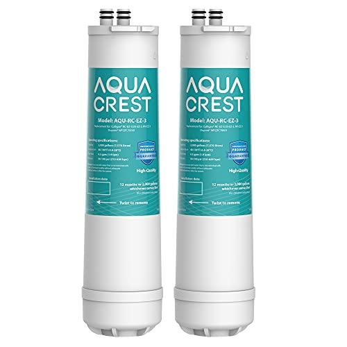 AQUACREST RC 3 EZ-Change Premium Under Sink Water Filter, Replacement for all Culligan EZ Change Water Filter Systems, Including RC-EZ-3, IC-EZ-3, US-EZ-3, RV-EZ-3, RC-EZ-1, 500 Gallons (Pack of 2)