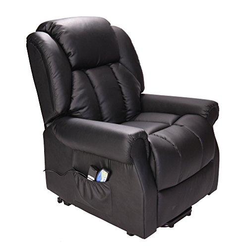 Hainworth Leather Dual Motor riser recliner chair