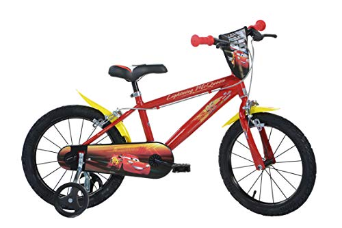 Dino Bikes Vélo Garçon sous Licence Cars 16 Pouces-5 à 8 Ans, 163 G-CS