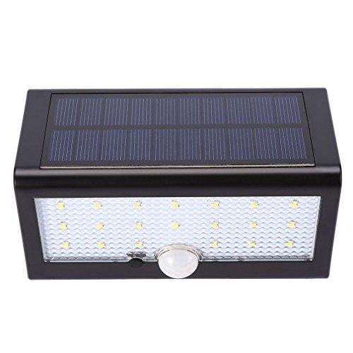 iCoco Solarleuchten 20LED Solar-Strahler Leuchten Bewegungsmelder wasserdicht IP55solarbetriebene Licht Notfall Lampe für Garten Zaun Yard Deck Weg Durchgang, Auffahrt Außerhalb Mauer