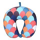 YFYJ U-förmige Schaumpartikel Nacken Kissen Weiches Reise Kissen Schutz Nacken Halswirbelsäule Flugzeug Kissen Halswirbelsäule Reiseartikel Bettwäsche Fischschuppen 30 * 31 * 9 cm