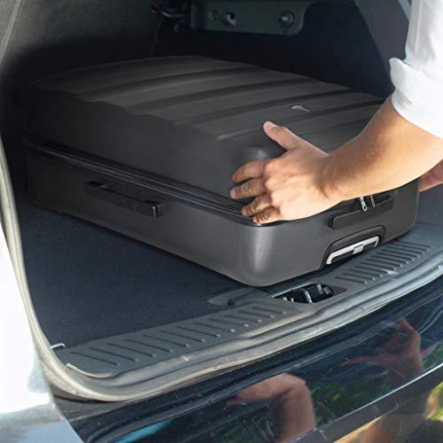 Aerolite Aerolite Leichter ABS Hartschale 4 Rollen Trolley Koffer Reisekoffer Hartschalenkoffer Rollkoffer Gepäck, 69cm, Kohlegrau