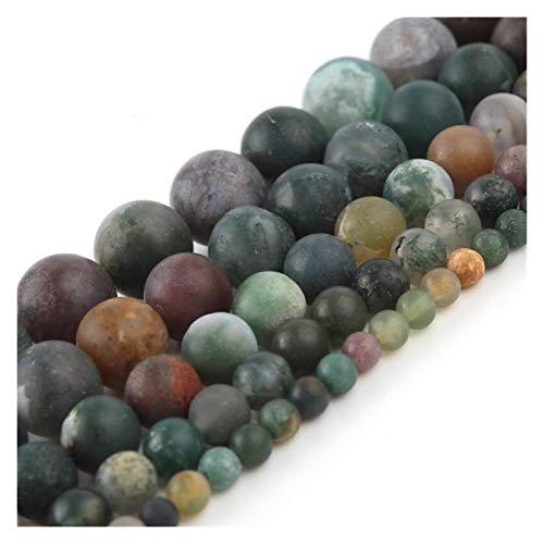 HETHYAN Cuentas espaciadoras sueltas redondas de piedra natural mate mate para hacer joyas y collares de 4/6/8/10/12 mm (tamaño: 12 mm, 28 unidades)