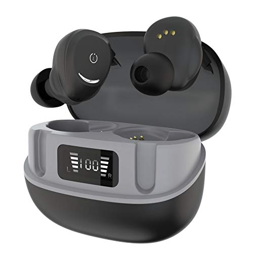 Wireless Earbuds,Noise Reduction,IPX7 Waterproof,Touch Control,in-Ear Studio Performance,Clear Sound,Bluetooth Earphones,for Calls,Sports,Home Office (Black)
