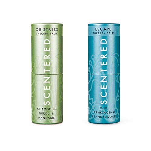 Scentered DE-Stress & Escape - Aromatherapy Balm Duo Gift Set - Supports Relaxation, Calmness & Stress Relief, Encourages Feelings of Peace & Tranquility