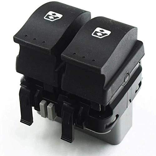 SUJIE Interruptor de la Ventana Interruptor de Control de Ventana Botón Principal Izquierdo Compatible con Renault Laguna 2 II Espace 4 8200315042 8200315046 Reemplazo (Color : Black)