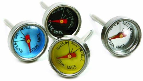 Norpro Mini Steak Thermometers, Set of 4, Silver