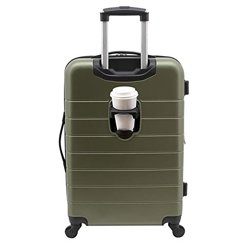 Wrangler 20' Smart Spinner Carry-On Luggage With Usb Charging Port, 20 Inch Carry-On, Olive Green