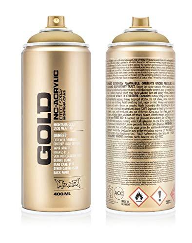 Montana Cans Montana 400 ml Color, Gold Matte Spray Paint
