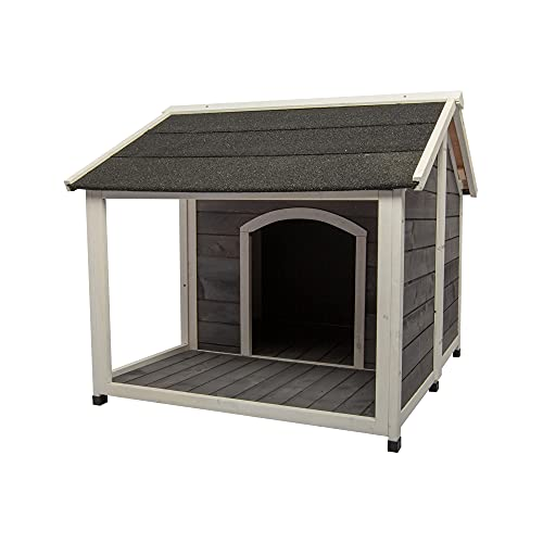 Wooden Outdoor Insulated Weatherproof Dog House Medium Kennel cage