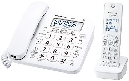 パナソニック コードレス電話機(子機1台付き) VE-GD26DL-W