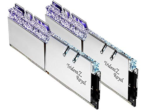 G.SKILL Trident Z Royal Series Silver 32GB (2 x 16GB) 288-Pin RGB DDR4 3000 (PC4 24000) DIMM...
