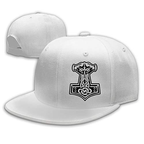 in Odin We Trust Thor Vikings Hammer Mjolnir Norse Celtic Baseball Cap Dad Hat Plain Hat White