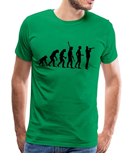 Evolution Trompeter Männer Premium T-Shirt, M, Kelly Green