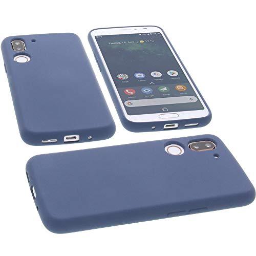 foto-kontor Hülle für Doro 8080 Tasche Silikon TPU Schutz Handytasche blau