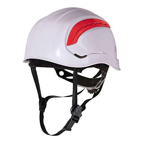 Delta plus - Casco obra granite wind ajustable blanco fluo