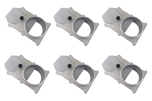 """Taytools 465388 Set of 6 each 4"""" OD Blast Gates Self Cleaning No Clog Aluminum for Dust Collection System"""