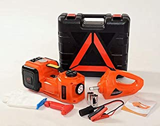 CONPEX Electric Hydraulic Car Jack 5 Ton 12V with Built-in Tire Inflatable Pump LED Light 2Ways Car Power Supply Safety Ha...