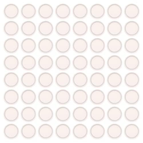 PIXNOR 100 Unidades de Tapas de Sellado Reutilizables para Frascos de Crema de Sellado a Prueba de Fugas Botella de Cara de Junta Revestimiento Interior de Jarra de Vino para Conservas
