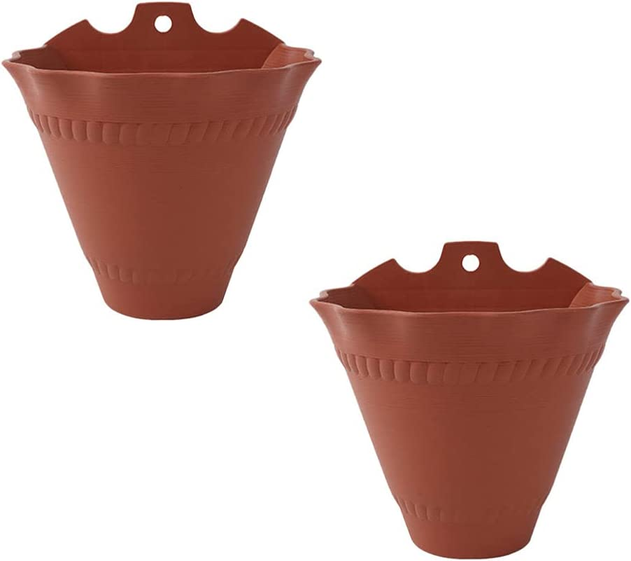 DOITOOL 2pcs Free Shipping New Plastic Hanging Planter Superlatite Shape Moun Wall Cone Basket