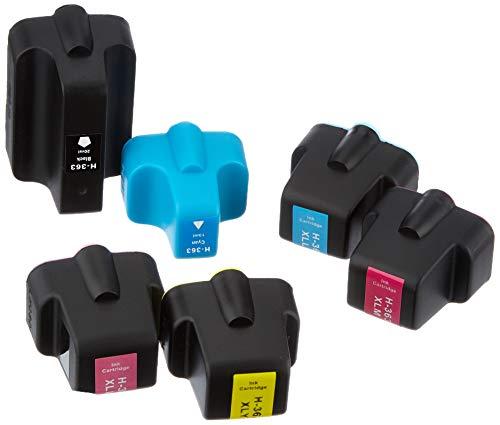 Go Inks Tintenpatronen-Set für HP 363 Druckerpatronen, 6 Stück, Schwarz, Cyan, Magenta, Gelb, Hellcyan, Hellmagenta, kompatibel mit HP Photosmart Druckern