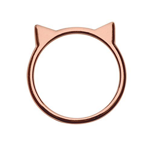 Cat Ear Ring in Rose Gold-Plated Sterling Silver (Size 6)