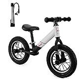 AODI - Bicicleta de equilibrio para niños, sin pedal, con asiento ajustable, para niños de 18 meses a 5 años, ruedas inflables de 12 pulgadas