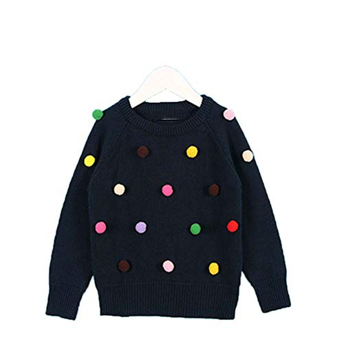 New Spring Children's Clothing 1-5Yrs Children's Sweater Triangle Symbol Kids Pullover Navy Blue 5T