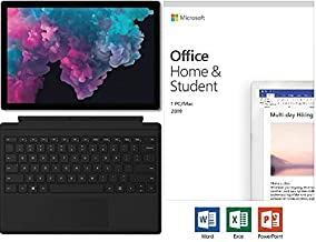 """Newest Microsoft Surface Pro 6 12.3"""" (2736x1824) 10-Point Touch Display Tablet PC w/Type Cover & Office 2019, Intel Quad Core i5-8250U Upto 3.4GHz, 8GB RAM, 128GB SSD, Windows 10, Platinum"""