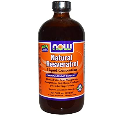 Now Foods Natural Resveratrol, Liquid Concentrate, 473ml
