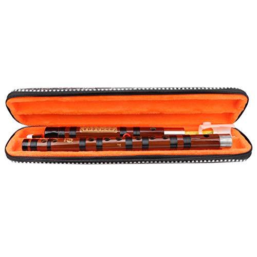 F Key Dizi Flauta de bambú chino Flauta de bambú amarga hecha a mano tradicional con estuche de almacenamiento