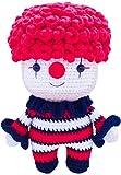 [New] FRILY Joker Crochet Doll - Amigurumi Cute Stuffed Doll - Knitted Crochet Toy Kindergarteners, Girls, Boys and Adults - 100% Handmade Using Premium Yarns - 8.3'' Tall - Red/Black Color