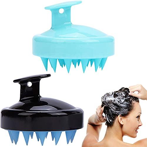 ZWWZ Paquete de 2 Cepillo de champú masajeador de Cuero cabelludo Mejorado Cepillo de Cuero cabelludo para Cabello seco y húmedo Mejorado masajeador de Cabeza para Hombres y Mujeres
