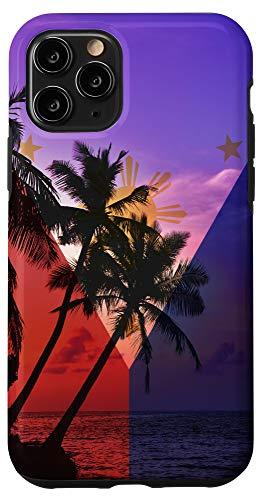 iPhone 11 Pro Tropical Ocean Vibes Philippines Flag - Filipino Pride Case
