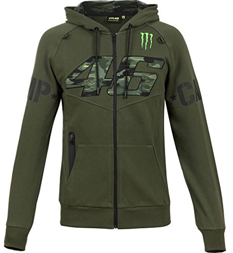 Valentino Rossi Herren Jacke Zip-Hoodie Monster Camp Camouflage VR46 Monster Energy (M)
