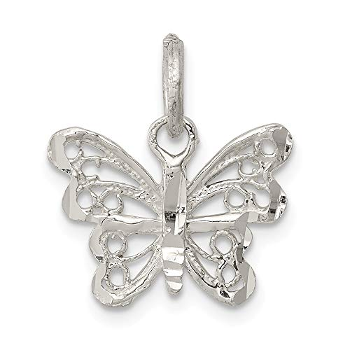 925 Sterling Silver Butterfly Pendant Charm Necklace Animal Fine Jewelry For Women Gifts For Her