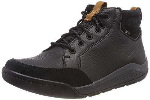 Clarks Herren AshcombeMidGTX Chelsea Boots, Schwarz (Black Leather), 42 EU