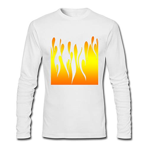 Flames Long Sleeve T-Shirts For Men