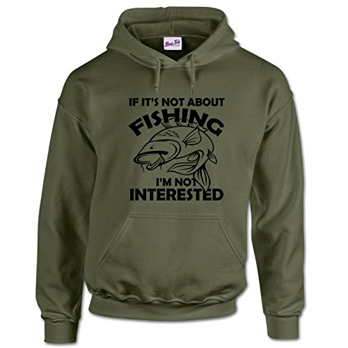 Fishing Hoodies Fishermen Gifts for Men Anglers Carp Clothing-its not-MGREEN