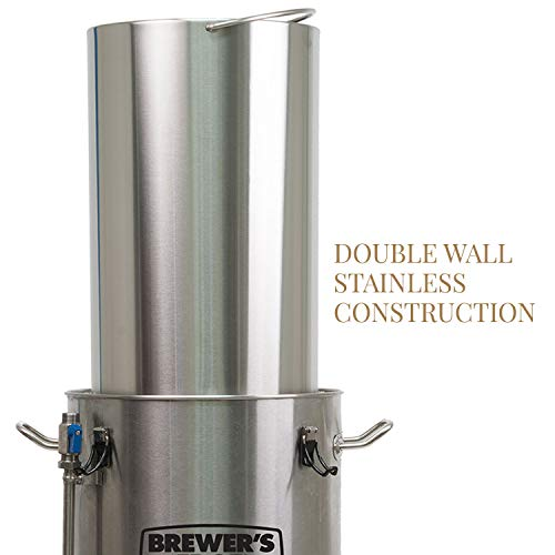 Product Image 3: Brewer's Edge Mash and Boil with Pump   All Grain Home Brewing System 7.5 Gallon