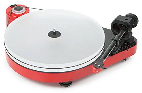 Pro-Ject RPM 5 Carbon, audiophiler Plattenspieler mit Riemenantrieb und Acrylplattenteller (inkl. Ortofon MC Quintet Red, Rot)