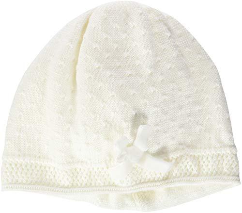 Döll Baby-Mädchen Topfmütze Strick Mütze, Weiß (Snow White 1050), 37 cm