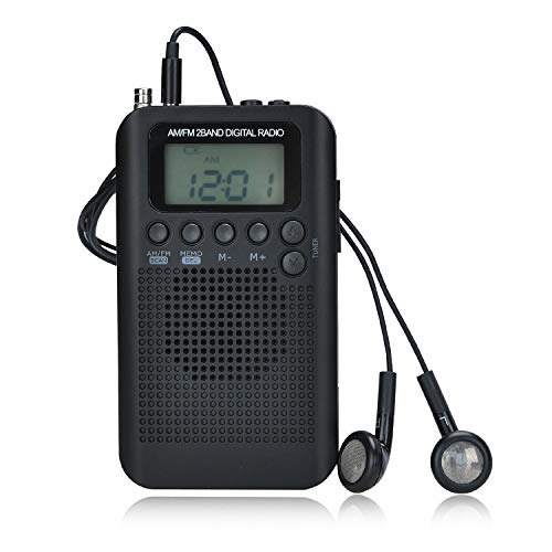 Songway Am/FM Pocket Radio Digital Relojes de Alarma Tempori
