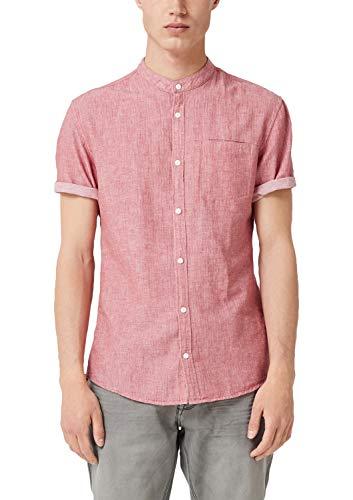 Q/S designed by heren extra slim: overhemd met visgraat-patroon.