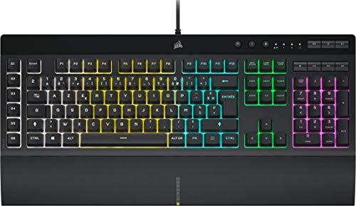 Corsair K55 RGB PRO Clavier Gaming à Membrane Filaire (Rétroéclairage RGB Dynamique, 6 Touches de Macro avec...