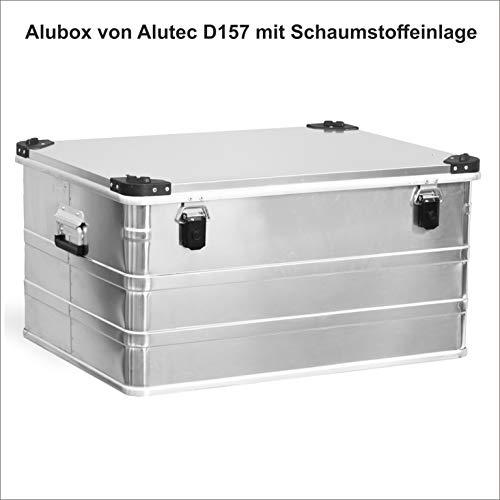 Redprice Aluminiumbox Alubox Alukoffer Alukiste Lagerbox 157 Liter (B75 T55 H38) D157 Schaumstoff-Auskleidung Vlieseinlage Temperaturbeständig -40 bis +180 Grad