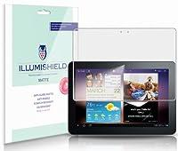 iLLumiShield–Samsung Galaxyタブ10.14G LTE 2011スクリーンプロテクター/アンチグレア(マット) HDクリアフィルム/気泡防止&指紋防止/プレミアムJapanese High Definition Invisibleクリスタルシールド–Free [ 2- Pack ]ライフタイム保証–小売包装