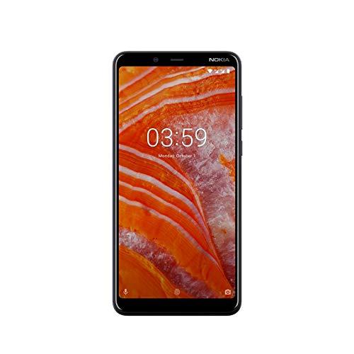 "Nokia 3.1 Plus - Smartphone de 6"" (4G, Mediatech Helio P22, RAM de 3 GB, Memoria de 32 GB, cámara Dual de 13+5 MP, Android One) Color Azul"